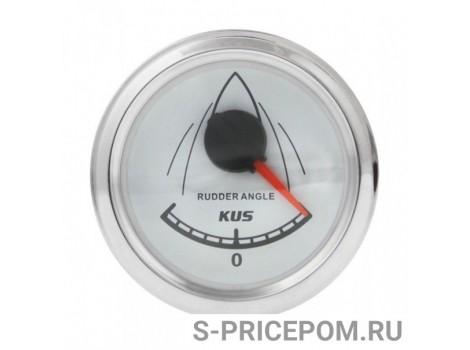 Указатель угла поворота руля, белый циферблат, нерж. ободок, д. 52 мм, 0-190 Ом