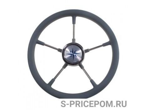 Рулевое колесо LEADER TANEGUM серый обод серебряные спицы д. 400 мм