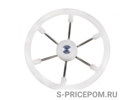 Рулевое колесо RIVA RSL обод белый, спицы серебряные д. 360 мм