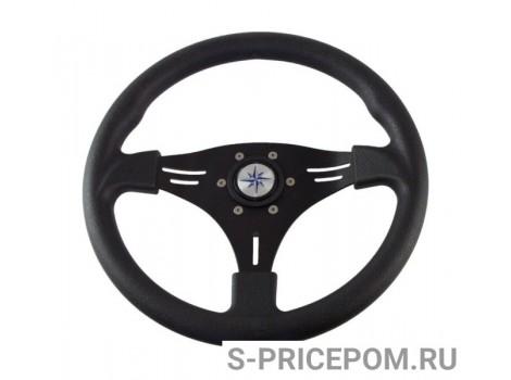 Рулевое колесо MANTA обод и спицы черные д. 355 мм