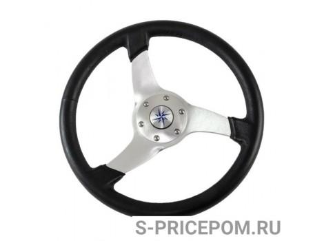 Рулевое колесо SKIPPER обод черный, спицы серебряные д. 350 мм