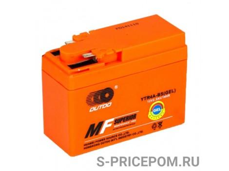 Аккумулятор гелевый YTR4A-BS, Outdo