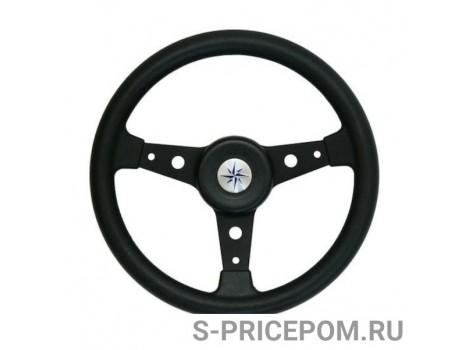 Рулевое колесо DELFINO обод и спицы черные д. 340 мм