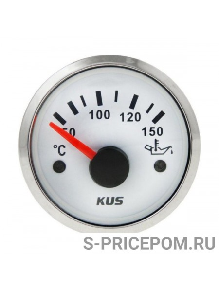 Указатель температуры масла 50-150 гр., белый циферблат, нержавеющий ободок, д. 52 мм