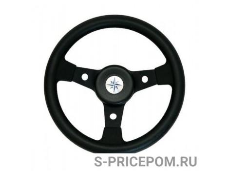 Рулевое колесо DELFINO обод и спицы черные д. 310 мм