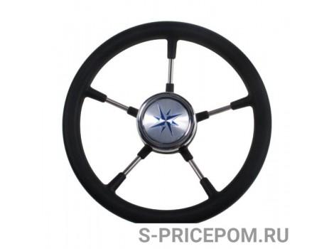 Рулевое колесо RIVA RSL обод черный, спицы серебряные д. 320 мм