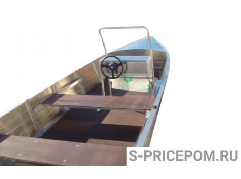 Алюминиевая лодка Вятка-Профи Шило с консолью