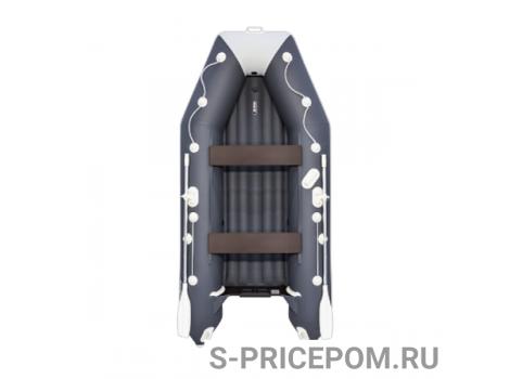 Надувная лодка ПВХ АКВА 3600 НДНД Графит/светло-серый