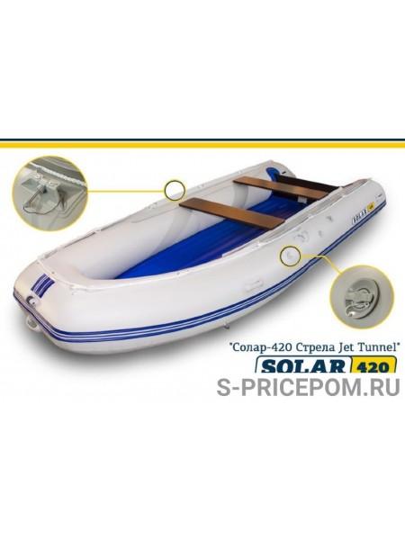 Надувная лодка Solar-420 Стрела Tunnel Jet