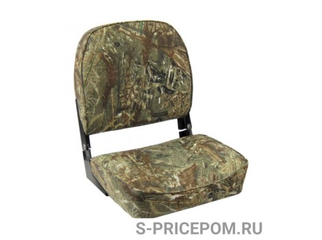 Кресло складное мягкое ECONOMY с низкой спинкой, обивка камуфляжная ткань