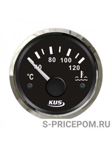 Указатель температуры двигателя 40-120 гр., черный циферблат, нержавеющий ободок, д. 52 мм