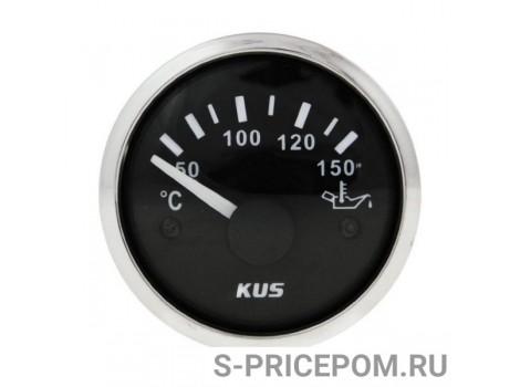 Указатель температуры масла 50-150 гр., черный циферблат, нержавеющий ободок, д. 52 мм
