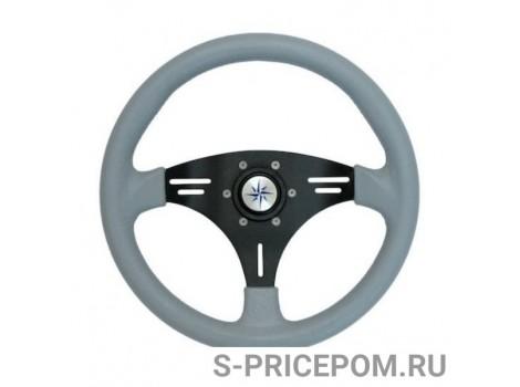 Рулевое колесо MANTA обод серый, спицы черные д. 355 мм