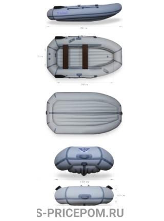 Надувная лодка ПВХ ФЛАГМАН 280NT