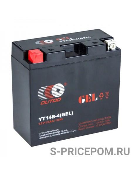 Аккумулятор гелевый YT14B-4, Outdo