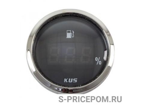 Указатель уровня топлива цифровой 4-20 мА, черный циферблат, нержавеющий ободок, д. 52 мм