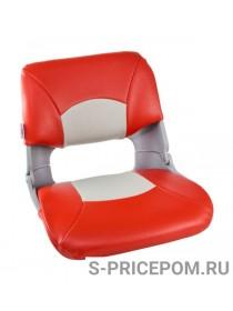 Кресло складное мягкое SKIPPER, цвет серый/красный
