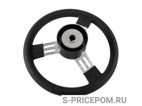 Рулевое колесо PEGASO обод черный, спицы серебряные д. 300 мм