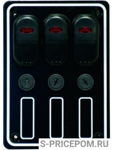 Панель выключателей три клавиши с индикацией