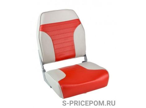 Кресло складное мягкое ECONOMY с высокой спинкой, цвет серый/красный