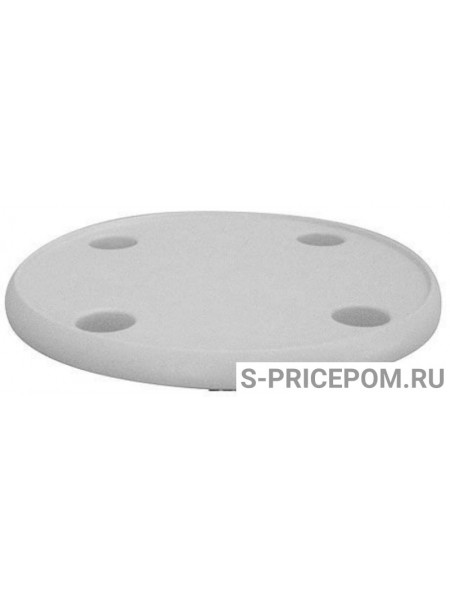 Столешница пластиковая круглая с выемкой 4 углубления