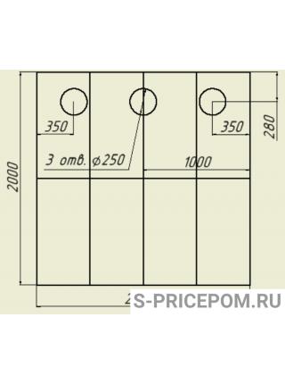 Полы 3Т со стандартными отверстиями (ПВХ) ВАРИАНТ 1