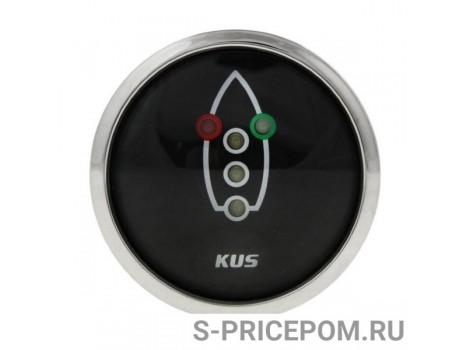 Индикатор включения ходовых огней, черный циферблат, нержавеющий ободок, д. 52 мм