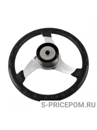 Рулевое колесо ELICA обод черный, спицы серебряные д. 350 мм