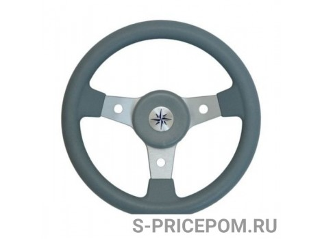 Рулевое колесо RIVA RSL обод серый, спицы серебряные д. 320 мм