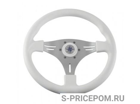Рулевое колесо MANTA обод белый, спицы серебряные д. 355 мм
