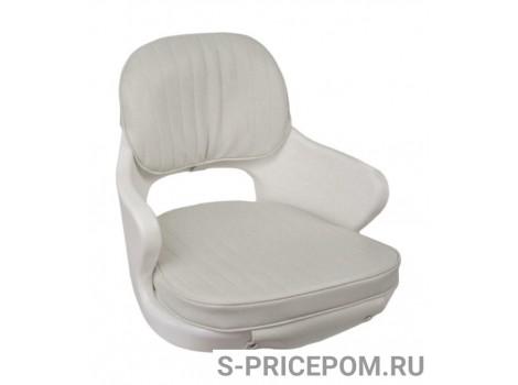 Кресло YACHTSMAN мягкое, съемные подушки, материал белый винил