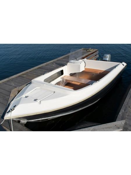 Алюминиевый катер ВИЗА Алюмакс-435 Комбинированный Консоль