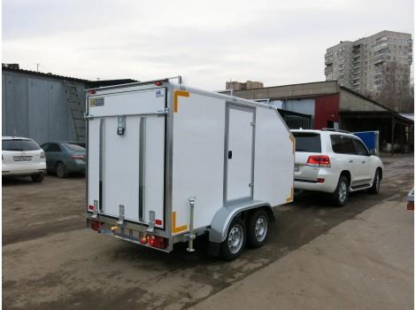 "Прицеп-фургон двухосный для мототехники ИСТОК 3792М4 ""Автодом-Мото-2"""