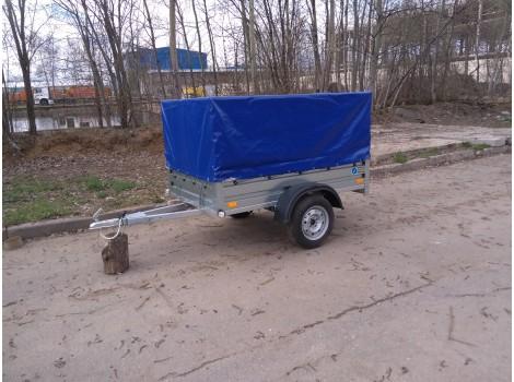 Автомобильный прицеп Кремень 2000А тент 700мм
