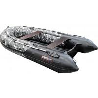 Надувная лодка Хантер 380PRO СЕРЫЙ КМФ