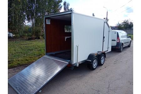 Поступление на склад двухосного фургона для перевозки мототехники, ИСТОК 3792М4 «Автодом Мото-2»