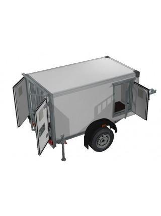 Прицеп-фургон легковой для перевозки собак ИСТОК 3791М1 КИНОЛОГ (3 отсека)