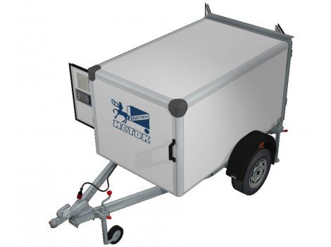 Прицеп-фургон легковой для перевозки собак ИСТОК 3791М1 КИНОЛОГ (2 отсека)