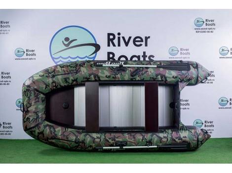 Надувная лодка ПВХ Ривербот (RiverBoats) RB-350 алюминиевый пол