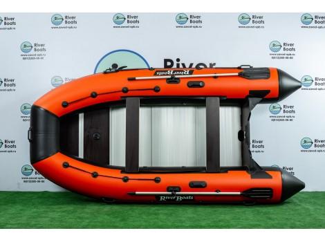 Надувная лодка ПВХ Ривербот (RiverBoats) RB-410 алюминиевый пол