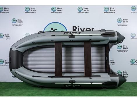 Надувная лодка ПВХ Ривербот (RiverBoats) RB-410 НДНД фальшборт