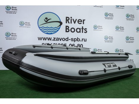 Надувная лодка ПВХ Ривербот (RiverBoats) RB-430 НДНД фальшборт