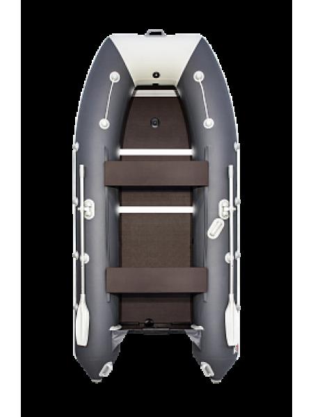 Надувная лодка ПВХ Таймень lx 3600 СК Графит/светло-серый