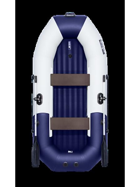 """Надувная лодка ПВХ Таймень NX 270 НД """"Комби"""" светло-серый/синий"""