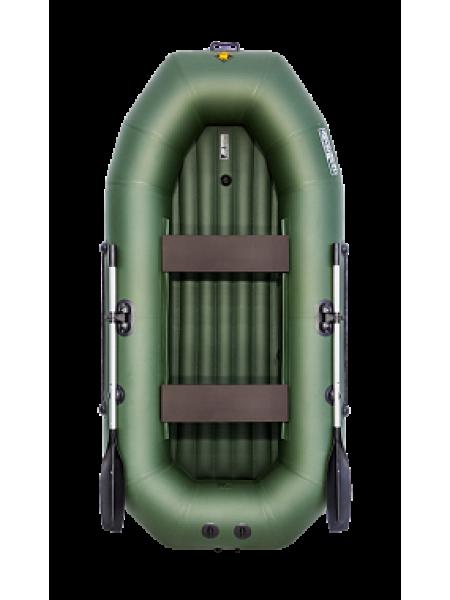Надувная лодка ПВХ Таймень NX 270 НД зеленый