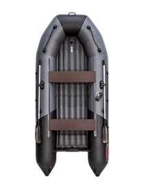 Надувная лодка ПВХ Таймень nx 3600 НДНД pro Графит/черный