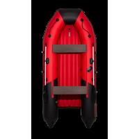 Надувная лодка ПВХ Таймень nx 3600 НДНД pro красный/черный