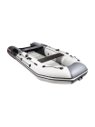 Надувная лодка ПВХ Таймень nx 3600 НДНД pro светло-серый/графит