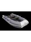 Надувная лодка ПВХ Таймень LX 3400 НДНД Графит/светло-серый