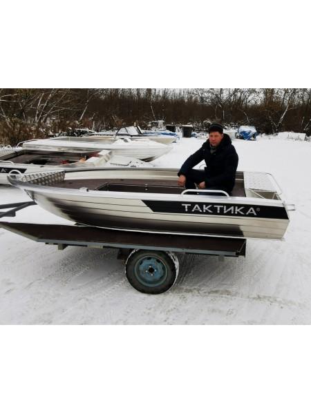Алюминиевая лодка Тактика 390 Fish (короткие рундуки)
